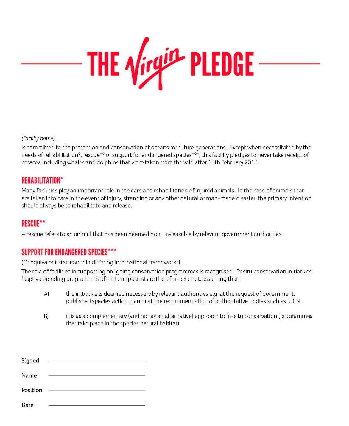 Pledge Letter Sample Donation